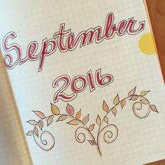#planwithmechallenge Day 1. Hello September! #bulletjournal #planneraddict Bullet Journal September, Hello September, Love Doodles, Bullet Journals, Art Journaling, Bujo, Planners, Hand Lettering, Watercolour