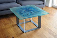 Glass Art Coffee Table by Archiglass Aquamarine Glacier Aquamarine Blue, Green Pattern, Art Object, Glass Design, Glass Art, Colours, The Originals, Coffee, Architecture