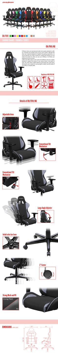 OH/FH11/NG  - Formula Series - Gaming Chairs | DXRacer Official Website - Best Gaming Chair and Desk in the World