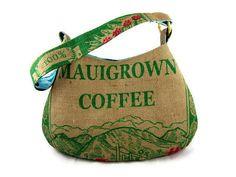 MTO Boutique Burlap Hobo Handbag Repurposed Maui by ManilaExtract, $140.00 Made on Big Island CUTE!!!