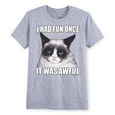 I Had Fun Once. Grumpy Cat Tee