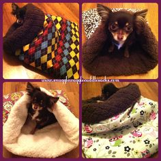Dog Cat Sleeping Bag Chihuahua Sphynx Snuggle Cuddle Burrow Sack Pet Bed on Etsy, $31.99