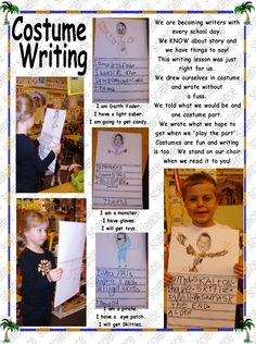 Writing about costumes Writing Lessons, School Days, Mermaids, Kindergarten, Writer, Costumes, Sayings, Halloween, Cover