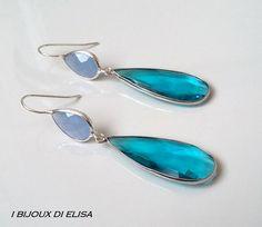 Earrings with turkish crystal: simply smart! #grigio #lightblue #azzurro #grey #earrings #orecchini #handmade #handmadejewels #handmadeearrings #bijoux #bigiotteria #drop #goccia #artigianato #ibijouxdielisa