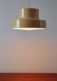 MID Century Modern Danish Lightolier Pendant Ceiling Lamp Lyskaer Morup | eBay