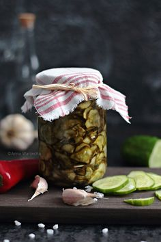 Cucumbers With Chili Aga, Yummy Food, Yummy Recipes, Pickles, Chili, Kitchen, Canning, Tasty Food Recipes, Cooking