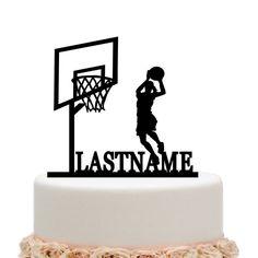 Female Basketball Sports Happy Birthday Boy Cake Topper | Wowlla