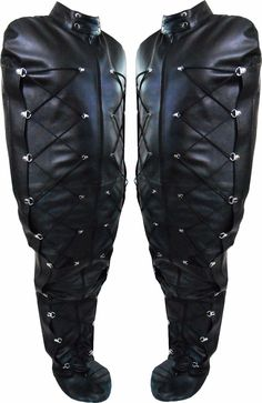 Real Leather mummy sleep sack body bag harness straight jacket with side laces