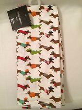 Cynthia Rowley Set 2 Kitchen Towels Halloween Dachshunds 100% Cotton 119737