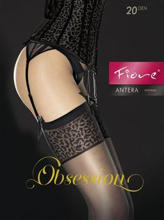 FIORE SHAYA 20 DEN Sensuous tights with a fancy bow patterned top.