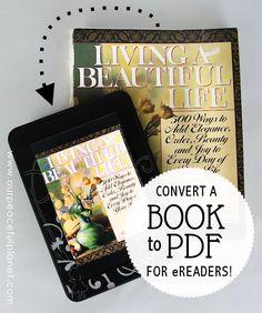 Digitize books to ebooks