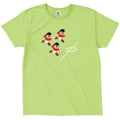 Computer Soccer Game - lime - デザインサッカーTシャツ|EVERYDAY FOOTBALL