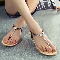 Elastic and Metallic Design Women's Sandals