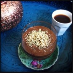 Happy Healthy Chocolate Mousse  #healthy #healthylifestyle #healthyfood #fruit #food #fit #chocolate #vegan