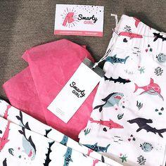 c27029635 STEM clothing for girls · because girls like sharks, too! shark leggings  for toddler girls by Smarty Girl.