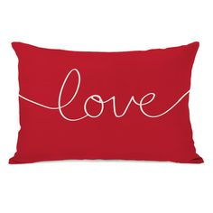 "One Bella Casa Holiday ""Love"" Mix and Match Lumbar Pillow & Reviews 