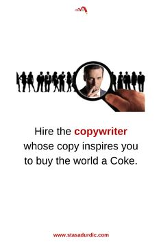 Hire the #copywriter whose #copy inspires you to buy the world a Coke. #copywriting #digitalmarketing #marketing #madmen