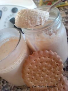 Entre Tachos e Bimby: Iogurte de Bolacha Torrada