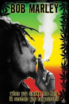 Bob Marley - Herb Poster Poster Print, PDecorate your home or office with high quality posters. Bob Marley - Herb Poster is that perfect piece that matches your style, interests, and budget. Bob Marley Kunst, Arte Bob Marley, Reggae Bob Marley, Bob Marley Smoking, Jimi Hendrix Poster, Rasta Art, Rasta Lion, Marijuana Art, Smoke Weed