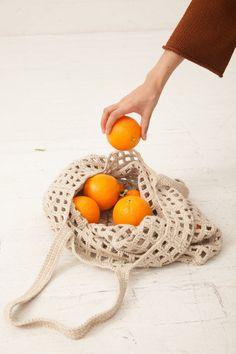 Lauren Manoogian Crochet Net Bag in Natural | Oroboro Store | New York, NY