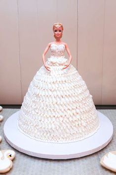 Barbie cake at a Swan Lake ballet birthday party! See more party planning ideas at CatchMyParty.com!