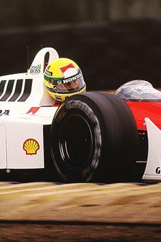 "Ayrton Senna or in terms ""The Boss"" Formula 1 Car, Mclaren F1, F1 Drivers, F1 Racing, Car And Driver, Vintage Racing, Grand Prix, Race Cars, Ferrari"
