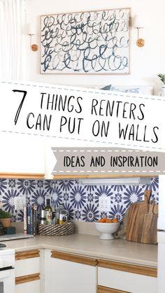 Diy Wall Art, Diy Wall Decor, Diy Bedroom Decor, Rental Decorating, Decorating Tips, Diy House Projects, Apartment Interior Design, Beach House Decor, Home Decor Inspiration
