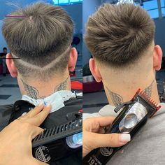 The process/the final result 💯 work on details its the best advice i can give, and set precise guides to have control over it 🤨 🙌🏻… Mens Hairstyles With Beard, Cool Hairstyles For Men, Boy Hairstyles, Hair And Beard Styles, Haircuts For Men, Short Fade Haircut, Gents Hair Style, Hair Cutting Techniques, Barber Haircuts