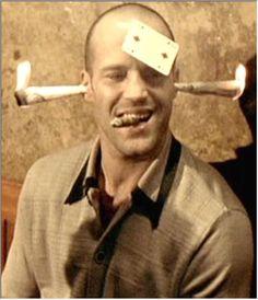 "Jason Statham in ""Lock, Stock and Two Smoking Barrels"" (1998)"