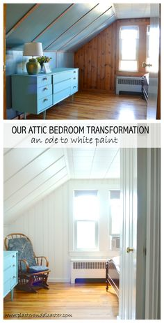 Transforming an attic bedroom with white paint -- Plaster & Disaster