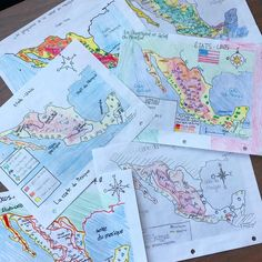 We are starting the Aztec unit and I thought it would be more interesting for my students to do a map ️️ of the geography of Mexico rather than us reading the explanation of it from the textbook. I am so happy with the outcome! Geography Of Mexico, Text Features, Teacher Hacks, Textbook, Social Studies, More Fun, Aztec, Middle School, Things To Think About