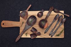 Hand crafted, wood products by Life: From the roots.................Authentic, hand picked design items... hand made spoons and platters