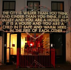 Robert Montgomery light sign - The Independent