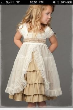 "Luna Luna ""Juliette"" Gorgeous Champagne Dress with Sheer Overlay flower girls My Baby Girl, My Little Girl, Little Girl Dresses, Little Princess, Flower Girl Dresses, Lace Dresses, Fashion Kids, Little Girl Fashion, Look Fashion"