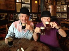 Come ON!  Why can't we have a mini series already?!?!  Gandalf, Picard, and beer.  What could go wrong?