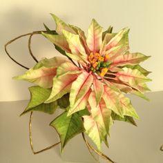 Poinsettia - Flor de Pascua - Jessi´s Sugar Flowers. Curso con Alan Dunn. Nov 2013.