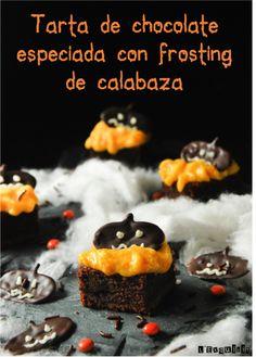 Tarta de chocolate especiada con frosting de calabaza- L'Exquisit