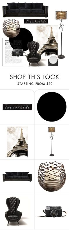 """""""Live a Good Life'"""" by dianefantasy ❤ liked on Polyvore featuring interior, interiors, interior design, home, home decor, interior decorating, 3R Studios, Wall Pops!, Menu and polyvorecommunity"""