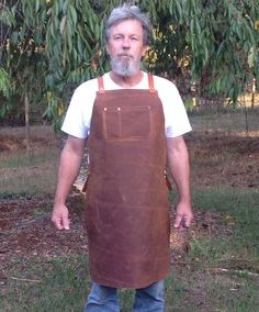 Blacksmith apron by Elf Leatherworks...rugged construction in oiltan leather