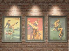 Купить Винтажные панно PIN-UP Девушки 50-х, ретро-картина, постер, триптих в интернет магазине на Ярмарке Мастеров