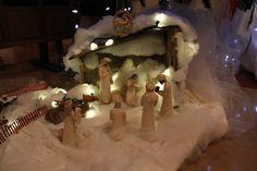 Crèche de Noël à la maison mère. Nativity scene at the mother house.