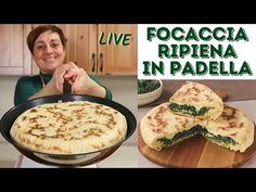 FOCACCIA RIPIENA IN PADELLA (con quello che c'è) - Ricetta Facile Live - YouTube Quiche, Pizza Rustica, Focaccia Pizza, Antipasto, Biscotti, Finger Foods, Italian Recipes, Bakery, Good Food