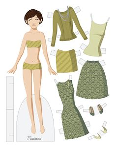Paper Doll School: 50 Dolls! Fashion Friday - Madison and Michael* For lots of free paper dolls International Paper Doll Society #ArielleGabriel #ArtrA thanks to Pinterest paper doll collectors for sharing *