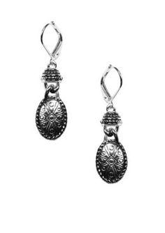 Napier  Casual Silver-Tone Pierced Earring