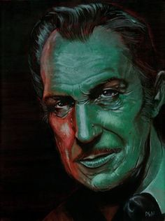 Vincent Price by artist D.W. Frydendall