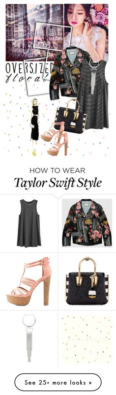 """Oversized Florals"" by ladybirdfb on Polyvore featuring Gucci, Bebe, MCM and Charlotte Russe"