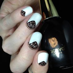 Tips and Topcoat: Black and White   Inspired by..
