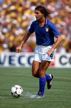 Football World Cup 1982 Brazil v Italy Antonio Cabrini