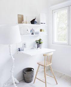 home office - kontorplads - indretning - wit - bureau - interieur