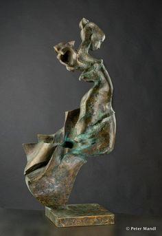 Peter Mandl - Glass & Bronze Sculptures   bronze sculptures